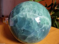 Wholesale Stone Sphere Stands - 80MM Glow In The Dark Stone crystal Fluorite sphere ball +Free stand A1