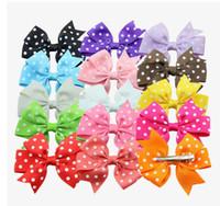 beak clips - Children headdress Rib little ribbon bow hair clips beak clip headdress birthday gift free E40