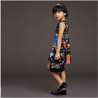 american clothing designers - Designer Baby Girl Dress Fashion Children Clothing Digital Printed Christmas Dresses for Girl Clothes Costume Princess Kids Clothing