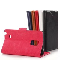 Cheap Litchi Oil Skin Flip Wallet Leather Stand Holder Case Cover Credit Card Slots Shell Hard Plastic Cases For Samsung note Edge 100Pcs 200Pcs