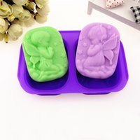 angels soap - 4 Hole Angel DIY Handmade Chocolate Candy Jello D Silicone Soap Mold Mould new arrival
