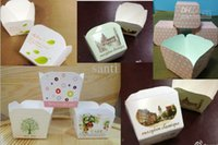 paper cupcake box - Party baking cups heat resisting Paper Quadrangular muffin cups cake cup cupcake cases