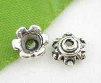 Wholesale Silver Tone Floral End Beads Caps mm Over Free Express