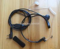 Wholesale Throat Microphone Vibration Earphone Headset For Two Way Radio BaoFeng UV R UVB5 B6 BF S TG UV2 KG UVD1P TH UVF8D TK