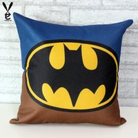 batman pillowcase - Iron Man Spider Man Green Lantern Captain America Pillowcase Cotton Pillow Cover cm New Arrival Superman Batman