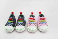 baby home shoes - baby first walkers fashion striped canvas shoes boy Baby shoes toddle vanvas home first walker shose months dandys
