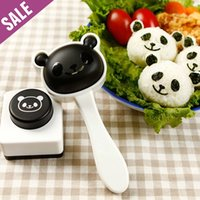 Wholesale 2015 new cute good price quality panda cooked rice mould Seaweed Signet Sushi Tools cook tool