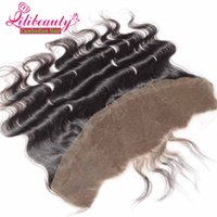 Cheap 7A Cambodian Body Wave Lace Frontal Closure 13x4 Full Frontal Lace Closure Bleached Knots Virgin Hair Body Wave Lace Frontal