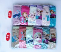 Wholesale frozen girls Cartoon cotton Underwear brief panties packs Children kids boys girls with sizes baby clothes christmas gift