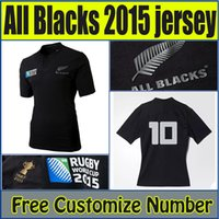 Wholesale Whosales discount top New Zealands All Blacks Rugby Jersey World Cup RWC Rugby Shirt Football Jersey S XXL best quality Free Ship