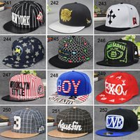 Wholesale Snapback Hats Hip Hop Checp FashionHip Hop Snapbacks Adjustable Hats For Men Or Women Mix Order Drop Shipping DHL Shipping