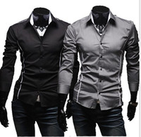 Wholesale Brand New design Mens Shirts high quality Casual Slim Fit Stylish men s Dress Shirts Colors Spring Hot sale Size M XL
