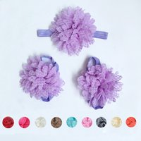 bear feet sandals - Malloom New Baby Girl Flowers Design Foot Band Ties Barefoot Sandals Shoes