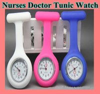 Wholesale uartz unisex silicone jelly round pocket brooch fob nurses doctor nurse Tunic Watch