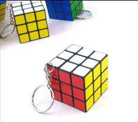 Wholesale Cartoon Mini Rubik s cube Puzzle Magic Game Toy Keychain Children s intelligence Toys cute Key chains