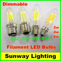 candle light led - Ultra bright W W W Dimmable LED Filament Bulbs E12 E27 B22 E14 LED Filament bulb lights Warm Cool White V V