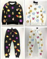 Wholesale New emoji joggers pants style print cartoon women joggers black white emoji Pants sweatpants trousers sportswear women pants