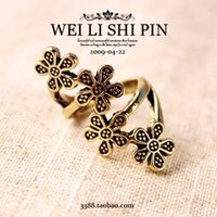 Wholesale 9C DAY Fashion vintage accessories little flower fashion female lady ring cheap women High Quality mm size