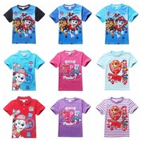 Wholesale Kids T shirts Cartoon Dog PAW Clothes Toddler Boys girls patrol Short sleeve Tees Tops Children shirts Baby Summer Clothing wholesales