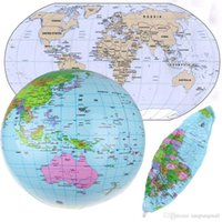 atlas world book - Top Quality Inflatable Blow Up World Globe CM quot inch Earth Atlas Ball Map Geography Toy A5