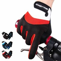 Wholesale New Wolfbike Bicycle Gloves Men Women Adjustable Anti slip Bike Cycling Gloves Full Finger Gloves Breathable