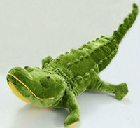 alligator stuffed toy - High Quality Giant Green Alligator Crocodile Stuffed Lying Pillow Collectible Plush Toy
