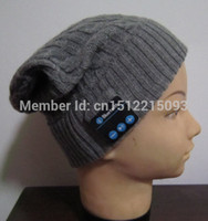 audio glove - top quality winter knitting hat with bluetooth audio earmuffs for Christmas gift