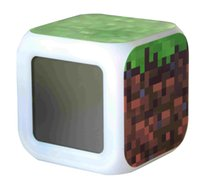 Wholesale Minecraft Toy Alarm Clock with LED Multifunction Night Light In Stock Same Day Shipping