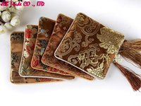 bags rosaries - cm Brown Satin Tips Quartet zipper Bags beads rosary bracelets bracelet jewelry pouch Bags
