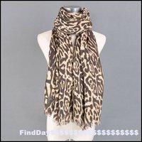Écharpe léopard imprimé chaud Avis-P Europe et aux États-Unis fan boutique parisienne mode fils léopard dot épaississement court pour garder un foulard imprimé chaud