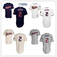 authentic twins jersey - 5 Days Minesota twins Jersey Brian Dozier Baseball Shirts Black White Grey Authentic Stitched M XXXL