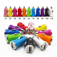Wholesale For Iphone USB Car Charger Colorful Bullet Mini Car Charge Portable Charger Universal Adapter For Iphone5 S Pieces DHL