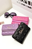 Wholesale Hot selling New Fashion clutch wallets Miss Bag Diorissimo PU leather Mini handbag clip tote for money