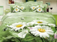 bedding coloring sheets - New and Hot daisy coloring sheets TC Cotton pc bedding sets without filling fresh green white daisy floral bedspreads full