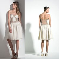 beaded miniskirt - 2015 New Cocktail Dress Featuring Bead Trimmed Bodice Illusion Waist Cutout Ruched Short Miniskirt A_line Short Prom Party Dress