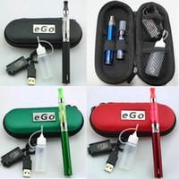 metal cigarette case - eGo Starter Kit CE4 E Cigarette Zipper Case Kits mah mah mah ego t Battery Atomizer Vaporizers ml bottle AAAA quality