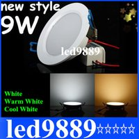 Wholesale 9W Dimmable Led Indoor Lights Downlights Ultra Bright SMD Chip lumens Led Ground Led Panel Lights Recessed Lamp Warm Cool White V