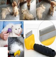 Wholesale Pet Dog Deshedding Tool Dog Pet Grooming Tool Large Size Dog Brush Hair Comb for Dogs Cats Pets Pet Supplies Colors
