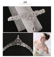 Wholesale Bridal Rhinestone Crown Accessories Tiaras Hair Accessories Wedding Accessories Crystals Pearls In Stock