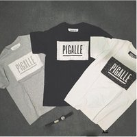 animal graphic tees - Pigalle Speckled Box Logo Printed T shirt Short Sleeve Crewneck Graphic Tees Men Women Cotton Hipsters Swag Clothes Streetwear