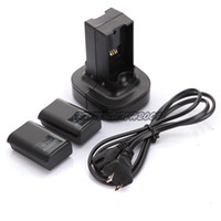 Wholesale Black x mAh Ni MH Rechargeable Battery x Charger Charging Dock Station Kit Pack For Xbox Wireless Controller Console