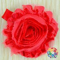 artificial grass cheap - 10 Cheap Beautiful Red Artificial Chiffon Fabric Flowers For Hairbands Hair Accessories