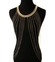 Wholesale 3pcs Multi Layer Tassel Body Chain Necklace Punk Style Woman s Jewelry Accessaries Bikini Dress Ornament H927