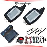 Promotion PKE deux voies d'alarme de voiture, système d'alarme de la RFID, la fréquence FM, démarrage à distance, le démarrage de la température, démarrage de la minuterie, code de saut