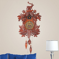 antique wood doll - Relating to music time waterwheel doll turn the cuckoo clock cuckoo clock European rural solid wood living room wall clock
