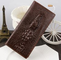 Wholesale 00 Genuine Leather Wallet For Business Men Crocodile D Fashion Leather men Wallets Large Capacity Men Purses