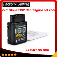 Wholesale Auto Car ELM327 Bluetooth HH OBD Scan Tool OBD OBD II Advanced Diagnostic Scanner Check defaulut code Realtime information