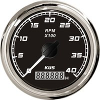 Wholesale 85mm tachometer KL SQ KF07020 black faceplate stainless stee bezel for boat yacht marine universal truck car