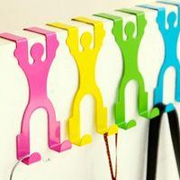 Wholesale Pieces CM Creative Back Clothes Door Hook Houseware Door Robe Hooks Clothes Door Hanger Using In Kitchen Hospital School