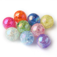 beads - Newest mm Shiny AB Effect Mixed Color Acrylic Crackle Beads Chunky Bubblegum Beads For DIY Necklace Making